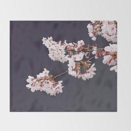 Cherry Blossoms (illustration) Throw Blanket