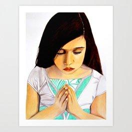 Girl Praying Art Print
