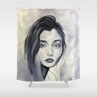 karen hallion Shower Curtains featuring Karen by Pamela Schaefer