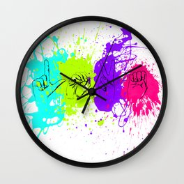 American Sign Language - LOVE Wall Clock
