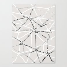 Triangular grid Canvas Print