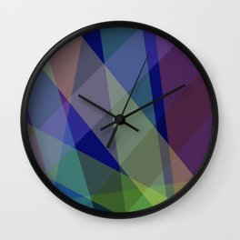 Stripes - Navy Blue Wall Clock