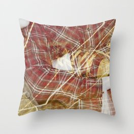 Plaid Hands and Converse Feet Throw Pillow