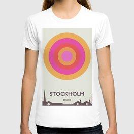 Stockholm,Sweden travel poster, T-shirt