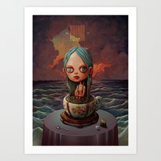 Zodiac Signs: Aquarius Art Print