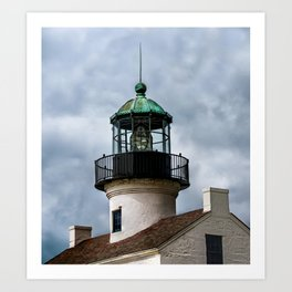 Cabrillo Lighthouse against the Storm Art Print