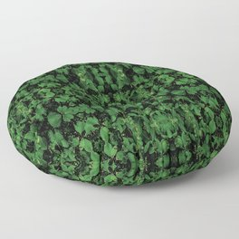 Dark Nature Collage Print Floor Pillow