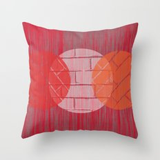 THREE BRICKS ON SPLINTERED WOOD  Throw Pillow