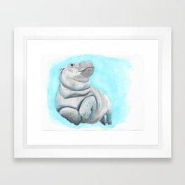 Baby Hippo Underwater Fantasia Ballet Framed Art Print