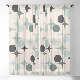 RETRO Pattern  #society6 #decor #buyart Sheer Curtain