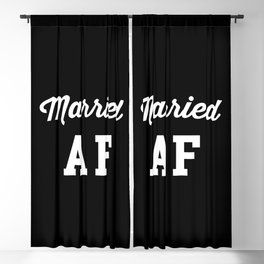 Married AF Funny Quote Blackout Curtain