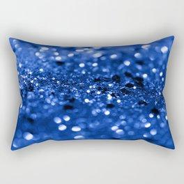 Blue Lady Glitter #1 #shiny #decor #art #society6 Rectangular Pillow