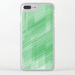The Green Hash - Geometric Pattern Clear iPhone Case
