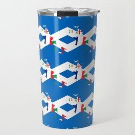 Scotland Rugby Fan St Andrews Cross Flag Design Travel Mug
