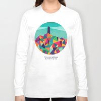 sayings Long Sleeve T-shirts featuring I'll be your lighthouse if you'll be my sea by Picomodi