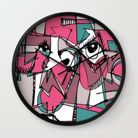 sneaker Wall Clocks featuring Sneaker Guy by 5wingerone