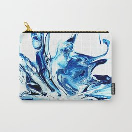 Water, an abstract fluid art piece by Sharon Perry Carry-All Pouch