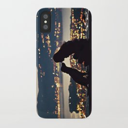 Girl and dog silhouettes  iPhone Case