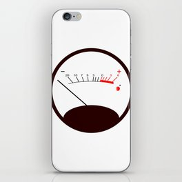 Round VU Meter No Signal iPhone Skin