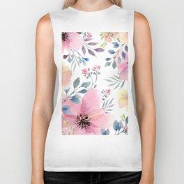 flower watercolor 1 Biker Tank