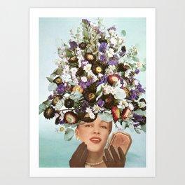 Floral Fashions III Art Print