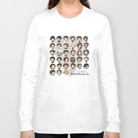 robert downey jr Long Sleeve T-shirts featuring Robert Downey Jr. by Lady Cibia