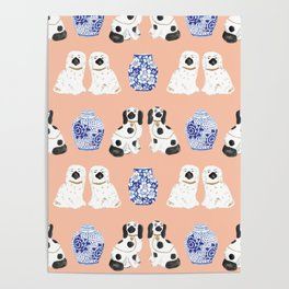 Staffordshire Dogs + Ginger Jars No. 5 Poster