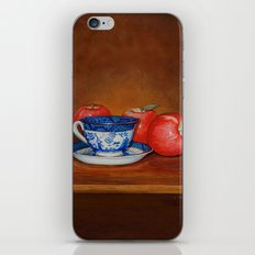 Teacup with Three Apples iPhone & iPod Skin