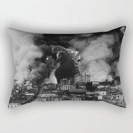 Old Time Godzilla San Francisco Fire Rectangular Pillow