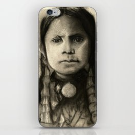 Portrait of Standing Holy iPhone Skin