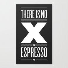 No X in Espresso – Dark Grey Canvas Print