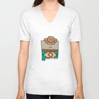 mexico V-neck T-shirts featuring New Mexico by Big Purple Glasses