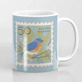 Bluebird Postage Stamp Coffee Mug