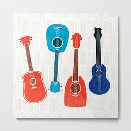 Americana Guitars ~ Mid Century Pop Art Metal Print