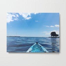 Bright Blue   Kayak on Severn River   Annapolis, MD Metal Print
