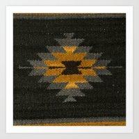 kilim Art Prints featuring wool kilim by Storm + Stress