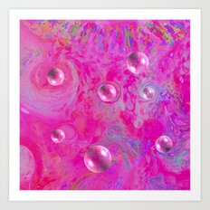 Serenity In Pink Art Print
