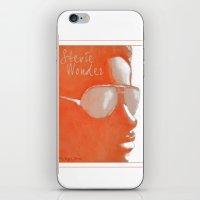 stevie nicks iPhone & iPod Skins featuring Stevie Wonder by Nina Bryant Studio