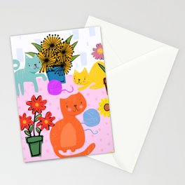 Three Curious Cats Stationery Cards