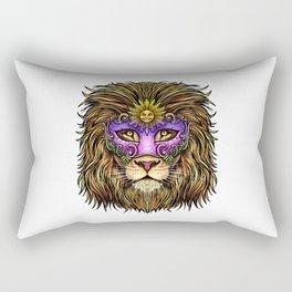 Mardi Gras   Pride Lion With Cute Mask Rectangular Pillow
