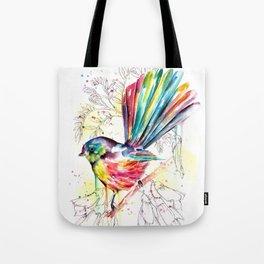Vibrant Fantail Tote Bag