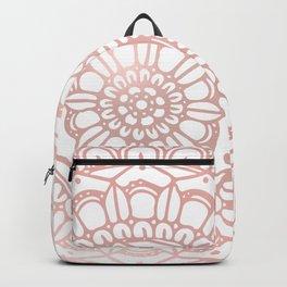 Rose Gold Boho Mandala Backpack