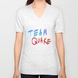 Team Quake.  Unisex V-Neck