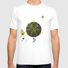 YELLOW SMALL White Mens Fitted Tee