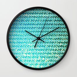 Mermaid Waves and Sea Foam, Sun Light over the Ocean Wall Clock