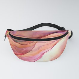 Abstract Coral Ink Painting Fanny Pack