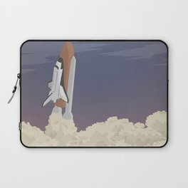 blast off launch pad Shuttle flies into space Laptop Sleeve
