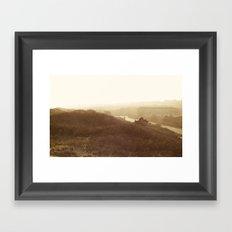 Montauk, NY Sunset Haze Framed Art Print