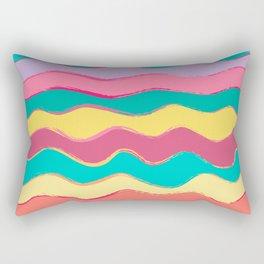 Wavy Pastel Tones Rectangular Pillow