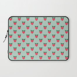 Strawberry Love Hearts and Love Birds Laptop Sleeve